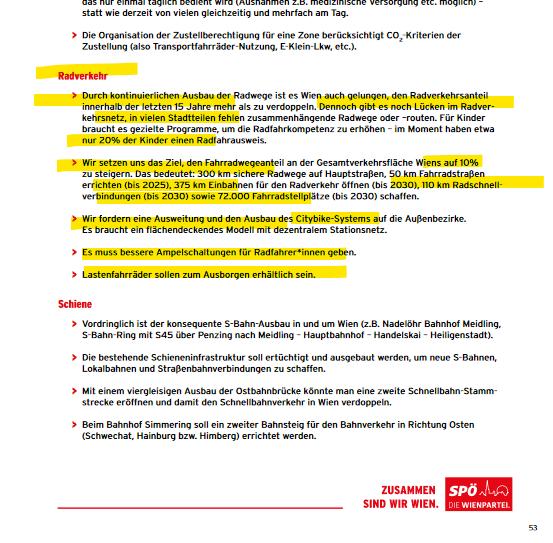 SPÖ Wahlprogramm Wien Wahl 2020