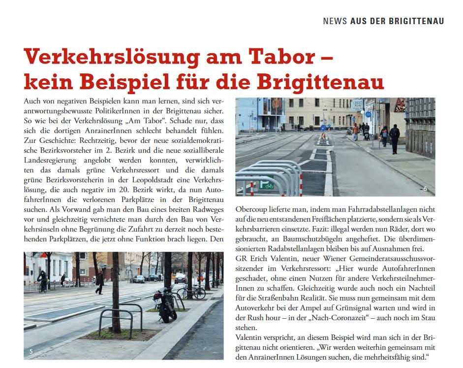 Newsletter SPÖ Brigittenau